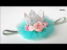 DIY Crown Headband for baby | tutorial bando mahkota ala Elysia Handmade - YouTube