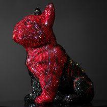 French Bruno by J. Swarovski, French Bulldog, Butterfly, Bling, Sculpture, Crystals, Art, Bulldog Breeds, Art Sculptures