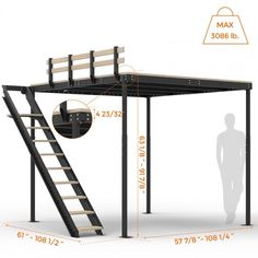 Deciding to Buy a Loft Space Bed (Bunk Beds). – Bunk Beds for Kids Bunk Beds With Stairs, Kids Bunk Beds, Loft Bed Stairs, Lofted Beds, Loft Room, Bedroom Loft, Attic Bedrooms, Bed Room, Mezzanine Bedroom