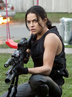 michelle rodriguez as Rain Ocampo / Resident Evil: Retribution
