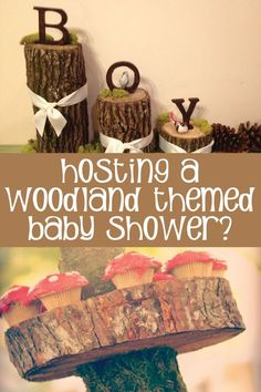 The best ideas for hosting a woodland baby shower! Baby Shower Themes, Baby Shower Cupcakes Neutral, Baby Shower Recipes, Baby Shower Boys, Woodlands Baby Shower Theme, Boy Baby Showers, Baby Shower Ideas For Boys Themes, Best Baby Shower Favors, Baby Shower Baskets