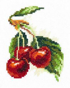 Вишня : Натюрморты : Наборы для вышивания