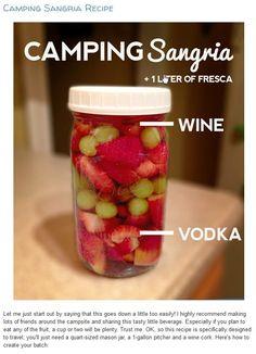 Camping sangria mason jar