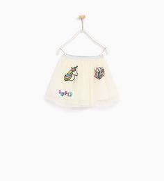 ZARA - KIDS - TULLE SKIRT WITH PATCHES
