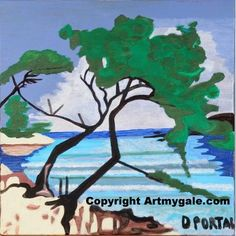 La Cote d'Azur - Reproduction - 30,00 €  #Art #Artiste