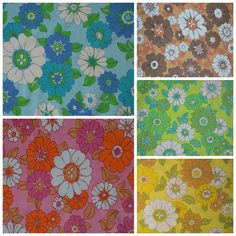 One of my favorite patterns in five different colorways - vintage sheets via Pattern Like