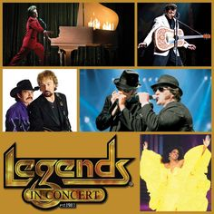 Beginning February 7, see favorite stars of yesterday and today with Legends in Concert at Dick Clark's American Bandstand Theater! Hear music from The Blues Brothers, Elvis, Marilyn Monroe, and other unforgettable legends as they present spot-on vocal impersonations of favorite tunes.    Find out more here: http://www.bransonshows.com/activity/LegendsinConcert.cfm #Branson #LegendsInConcert