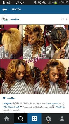 American and African Hair Braiding : Love this sew in done by - Beauty Haircut Dope Hairstyles, African Braids Hairstyles, Weave Hairstyles, Mommy Hairstyles, Beautiful Hairstyles, Black Hairstyles, Summer Hairstyles, Wedding Hairstyles, Sew In Braids
