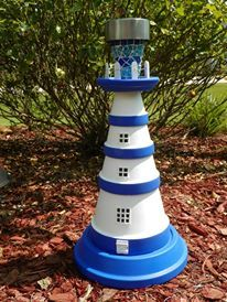 Blue Solar Lighthouse ~Antibarbi