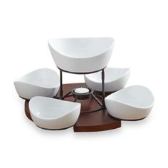 $39.99 -- B. Smith Lazy Susan with Serving Bowls Set - BedBathandBeyond.com