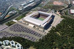 """Este é o estádio da abertura da Copa do Mundo de 2014, no Brasil: """"Arena de São Paulo"""", popularmente chamado de """"Itaquerão"""" ou """"Fielzão"""", o estádio particular do Sport Club Corinthians Paulista."""