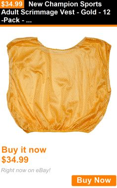Other Soccer Clothing and Accs 159179: New Champion Sports Adult Scrimmage Vest - Gold - 12-Pack - Whse BUY IT NOW ONLY: $34.99