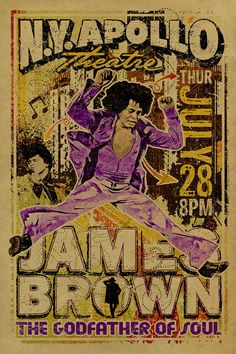 James Brown Poster. The Godfather of Soul