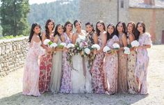 17 Bridal Parties Who Flawlessly Rocked Floral Bridesmaid Dresses
