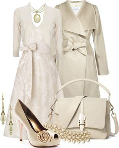 """""""Dressy Winter White"""" by stylesbyjoey ❤ liked on Polyvore"""