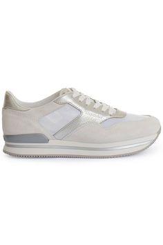 Coole HOGAN Sneaker nuovo sportivo off white (wit) Dames sneakers van het merk hogan . Uitgevoerd in wit.