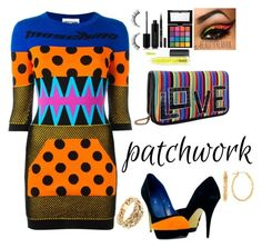 """""""Patchwork"""" by annwaynefashion ❤ liked on Polyvore featuring Moschino, Les Petits Joueurs, NYX, L'Oréal Paris, Marc Jacobs and MAC Cosmetics"""