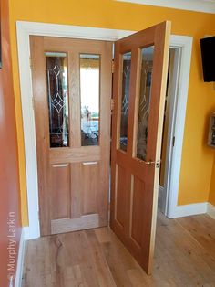 Our Oak glazed doors with a design that is cut into the glass. With loads of designs to choose from. Available from our Showrooms in Tramore and Clonmel and online. Walnut Doors, Oak Doors, Prehung Doors, Composite Door, External Doors, Contemporary Doors, Architrave, Sliding Door Hardware, Timber Flooring