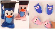 2 ideas DIY para los amantes de búhos Diy, Toilet Paper, Ideas, General Crafts, Amigurumi, Activities, Cards, Blue Prints, Lovers