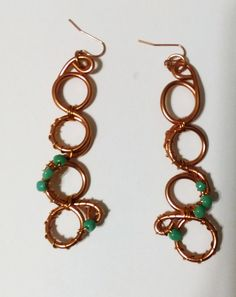 Copper earrings - TRJ