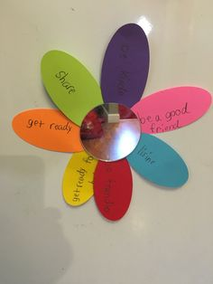 Purple petal - respect myself and others. We read the story, had a discussion on what the girls can do to respect themselves, their friends, family, others...The girls then created these mirrors and wrote their ideas on the petals. We out magnets on the back. Girl Scout Daisy Petals, Daisy Girl Scouts, Girl Scout Troop, Boy Scouts, Bible Crafts, Book Crafts, Boys And Girls Club, Boy Or Girl, Empower Girls