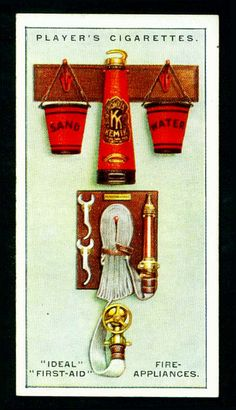 Cigarette Card - First Aid Fire Appliances