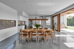 Cowrie Road House developed by MG Design and Building. Find all you need to know about Cowrie Road House products and more from Bookmarc. Interior Design Inspiration, Decor Interior Design, Interior Decorating, Casa Cook Hotel, Style Californien, Casa Top, Dining Chairs, Dining Table, Oak Chairs