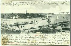 Vestfold fylke Larvik utsikt mot sjøen tidlig 1900-tall