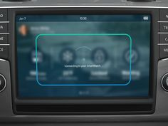 UI Animation of concept automotive infotainment system for promo video https://vimeo.com/123711407