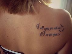 "My 1st tattoo in loving memory of my brother. Carrie Underwood song ""I will see you again"""