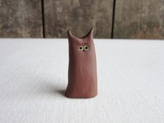 Gumby Cat. Ceramic Cat Figurine, Miniature Pottery Cat Figurine, Handmade Ceramic Cats,Sculpture,Cat Lovers Gift,Whimsical Animals,Stoneware Lovers Gift, Cat Lover Gifts, Cat Lovers, Pottery Animals, Round Eyes, Handmade Ceramic, Stoneware, Whimsical, Miniatures