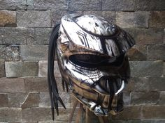 Predator Helmet Motorcycle Style Mix Carbon and Roving Material   DOT Approved by CelloShancangHelmet on Etsy