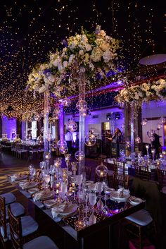 The Liberty Warehouse 6.16.17  Night sky moon & stars inspiration complete with stunning mirrored tables by Konstantinos Floral & Pegasus Productions lighting. It was a night to remember!