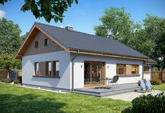 Zdjęcie projektu TK9GL1 WAK1022 Balcony Design, Design Case, Home Fashion, My Dream Home, Bungalow, My House, House Plans, Shed, New Homes