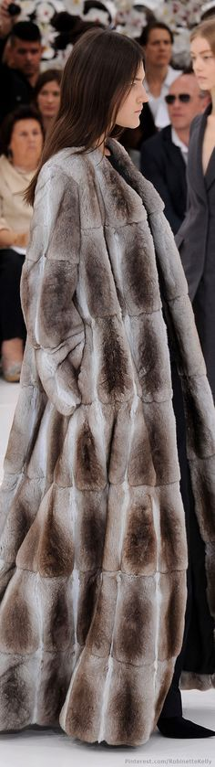 Christian Dior Haute Couture F/W .wouldnt wear real fur but this is stunning Fashion Moda, Fur Fashion, High Fashion, Winter Fashion, Fashion Show, Womens Fashion, Fashion Design, Dior Haute Couture, Couture 2015