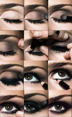 Smokey Eye Tutorial! Easy to follow eye makeup. #beautytips #eyes #bellashoot