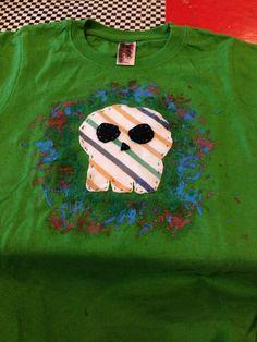 Diy camiseta #patchwork #skull #cerasdeconstruidas