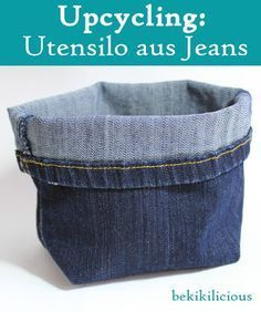 bekikilicious: Upcycling: How to make a cool jeans utensil out of an old jeans - Diy and Crafts to Upcycled Crafts Diy Jeans, Diy Upcycling Jeans, Jeans Recycling, Upcycling Ideas, Diy Upcycled Art, Upcycled Furniture, Furniture Ideas, Jean Diy, Clothes Crafts
