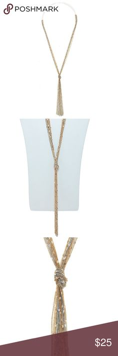 """NEW Boutique Dotted Multi Strand Chain Necklace Dotted multi strand chain necklace in silver and gold.  Approximately 30"""" length.  Lobster claw clasp with 3"""" extender.  New boutique item.  Bundle and save.  Happy Shopping! Jewelry Necklaces"""