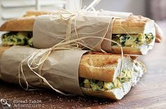West African Toasted Baguette Sandwich with Spinach Scrambled Eggs - Perfect back to school breakfast! Toasted Baguette Sandwich with Spinach Scrambled Eggs - Scrambled Eggs With Spinach, Spinach Egg, Baby Spinach, Bagels, Comida Picnic, Baguette Sandwich, Breakfast Recipes, Snack Recipes, West African Food