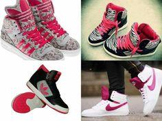 Pink Nikes Addidas