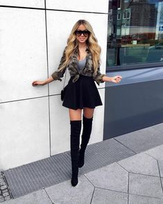 Skirt Outfits, Casual Outfits, Cute Outfits, Fashion Outfits, Fashion Heels, Love Fashion, Autumn Fashion, Womens Fashion, Fashion Design