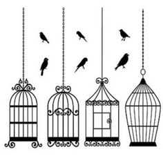 Printable Birds and Cages