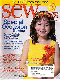 5 Issues of Sew News Magazine June 2005 - October 2005 FREE SHIPPING
