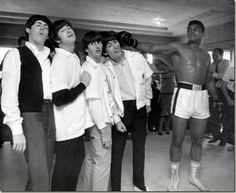 The Beatles meet Ali. Feb.18 1954.
