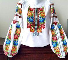 Ukrainian vyshyvanka, еmbroidery Polish Embroidery, Embroidery On Clothes, Embroidered Clothes, Embroidery Dress, Embroidery Patterns, Festival Outfits, Indian Outfits, Passion For Fashion, Stitch