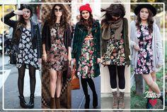 #TattooTrends: en otoño se vale combinar un vestido floral con tu suéter, abrigo o chamarra favoritos