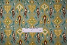 Love this fabric for blinds or draperies - Robert Allen Khanjali in Peacock
