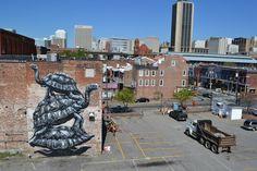 #ROA in Richmond, Virginia; The Richmond Mural Project