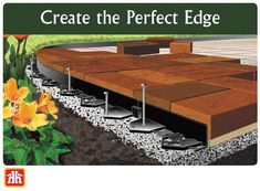 Create crisp, clean definition for your patio or garden with edging that is built strong to withstand our extreme winter weather. Paver Edging, Landscape Edging, Gardening Tools, Home Hardware, Crisp, Weather, Strong, Patio, Create